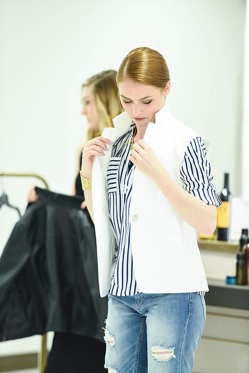 Express vest and portofino shirt