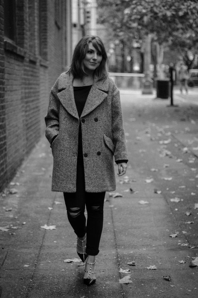 black and white fashion shoot